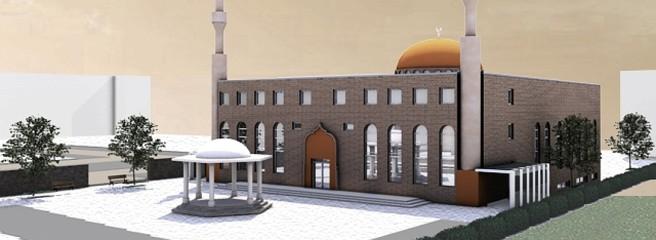 So könnte die geplante Moschee auf dem Parkplatz an der Karl-Liebknecht-Straße in Bergkamen aussehen.