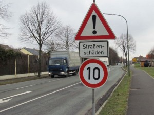 Neue Geschwindigkeitsbegrenzung auf der Landwehrstraße