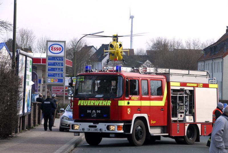 Die Feuerwehr und der Rettungshubschrauber waren am Freitagnachmittag auch auf der Bambergstraße im Einsatz.