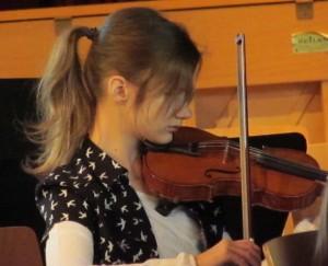 Deie 5er-Orchesterklasse präsentierte sich erstmals einem großem Publikum