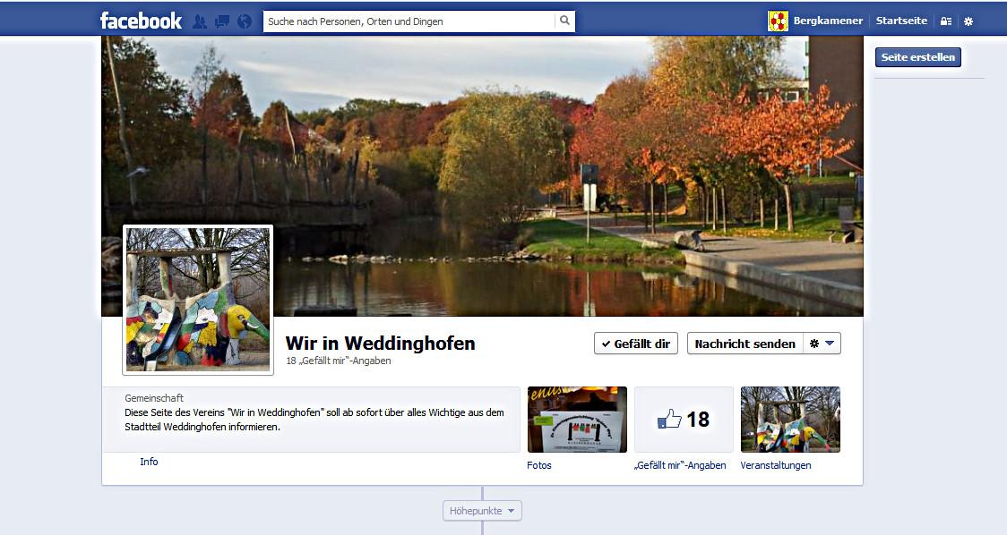 """""""Wir in Weddinghofen"""" jetzt auch auf Facebook"""