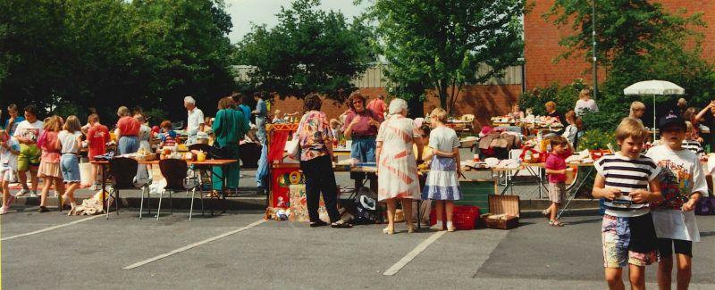 Kindertrödelmarkt im Juni 1992