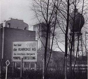 """Auf dem Gelände der Zeche Grimberg 1/2 in Bergkamen entstand bis 1981 das neue Bergwerk """"(Neu-)Monopol, die modernste Schachtanlage im europäischen Steinkohlenbergbau. Foto: Ulrich Bonke"""