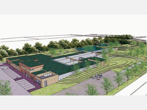 So soll das geplante Schießsportzentrum Overberger aussehen.