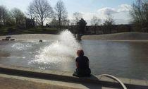 Frischwasser für den Teich im Wasserpark