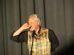 Konrad Beikircher am Vorabend des Finales im Bergkamener studio theater