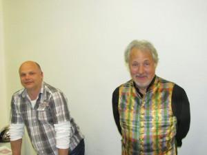 Konrad Beikircher mit Buchhändler Christian Hopp