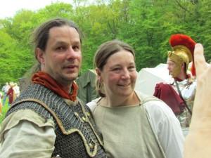 Feierten römische Verlobung: Stefanie Fiedler und Martin Weber