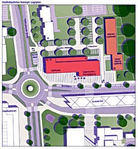 Städtebauliches Konzept für das Grundstück am Busbahnhof