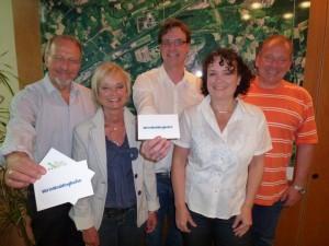 """""""Wir in Weddinghofen"""" beim Bürgermeister (v.l.) Roland Schäfer, Bärbel Guschall, Christian Weischede, Ramona Romahn und  Christian Weischde, Ramona Romahn und Dirk Haverkamp."""