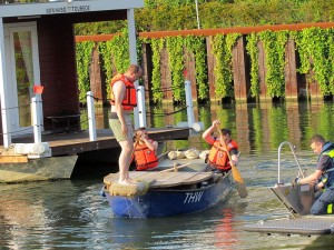 Training für das Fischerstechen