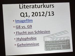 Fünf sehr sehenswerte Filme sind das Ergebniss der Kursarbeit in diesem Schuljahr.