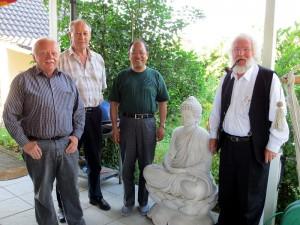 v.l.: Heinrich Peuckmann, Horst Hensel, Prof. Zhu Jianhua und Heinz Kordy