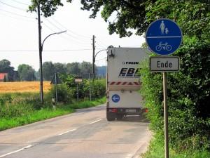 Der Rad- und Gehweg an der Jahnstraße in Heil endet noch kurz hinter der Königslandwehr.