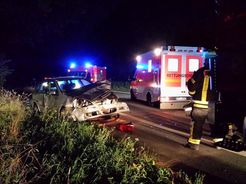 Ein Unfall ereignete sich auf der Werner Straße. Foto Feuerwehr Rünthe