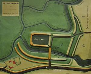 Aus den 1930er-Jahren stammt dieses Modell der Bumannsburg. Die Besucher können am Tag des offenen Denkmals am 8. September mit eigenen Augen den sichtbaren Spuren der Anlage nachforschen.Foto: LWL/Menne