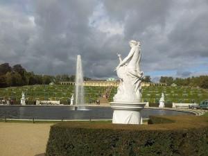 Digitale Urlaubserinnerung an das Schloss  Sanssouci in Potsdam