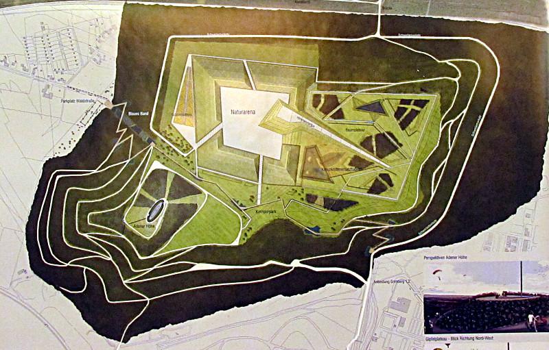 Gestaltungsplan für die Halde Großes Holz.