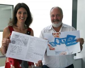 Start der Mobilitätsbefragung: Sabine Leiße und Klaus-Peter Dürholt vom Kreis Unna.Foto: Kreis Unna
