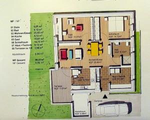 Die 12 Häuser haben alle den gleichen Grundriss.