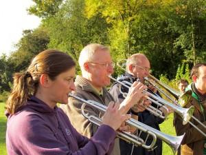 Der Posaunenchor Bergkamen wird auch am Samstag die Pflanzaktion musikalisch begleien.