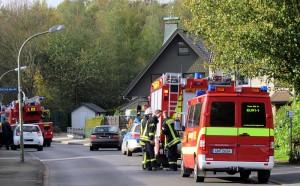 Ein Fehlalarm sorgte am Mittwoch in der Buchfinkenstraße für ein Großaufgebot der Freiwilligen Feuerwehr