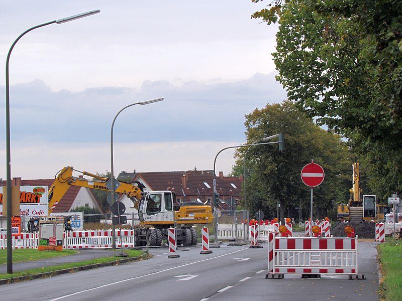 Kanalbaustelle Landwehrstraße
