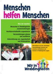 """Das neue Plakat des Vereins """"Wir in Weddinghofen"""""""