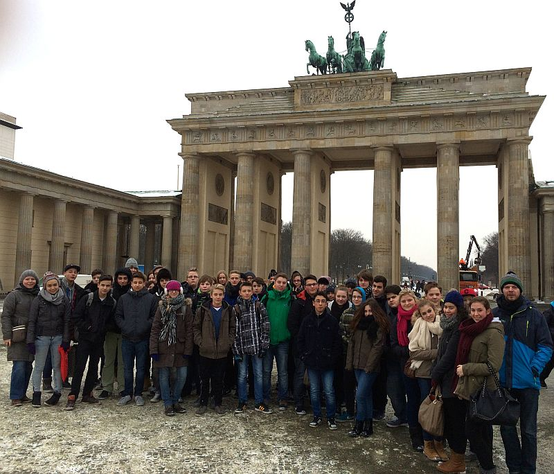 Gruppenbild am Brandenburger Tor