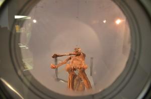 Blick in die Kühlkammer: Ötzis Mumie.