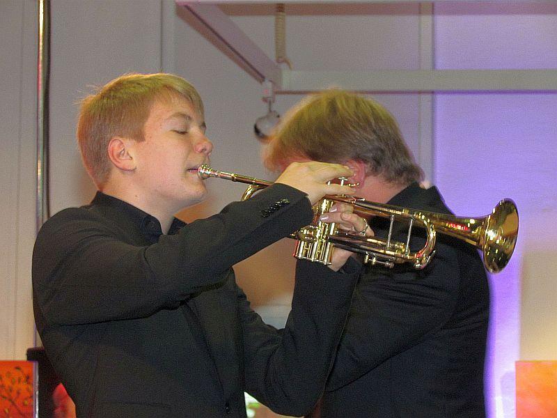 """Nico Wellers (Trompete) gewann mit dem Kinderjazzortchester """"UniJAZZitty"""" bei """"Jugend jazzt"""" den 1. Preis."""