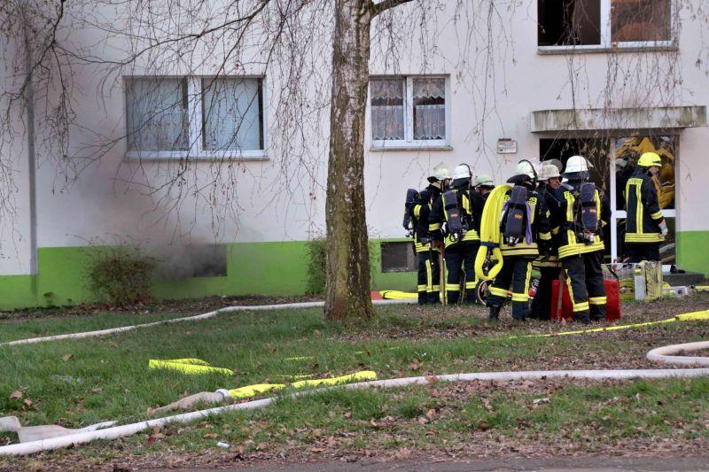 Ein Kellerbrand rief die Feuerwehr an der Straße Auf dem Spiek auf den Plan. (Foto:Björn Bonke)