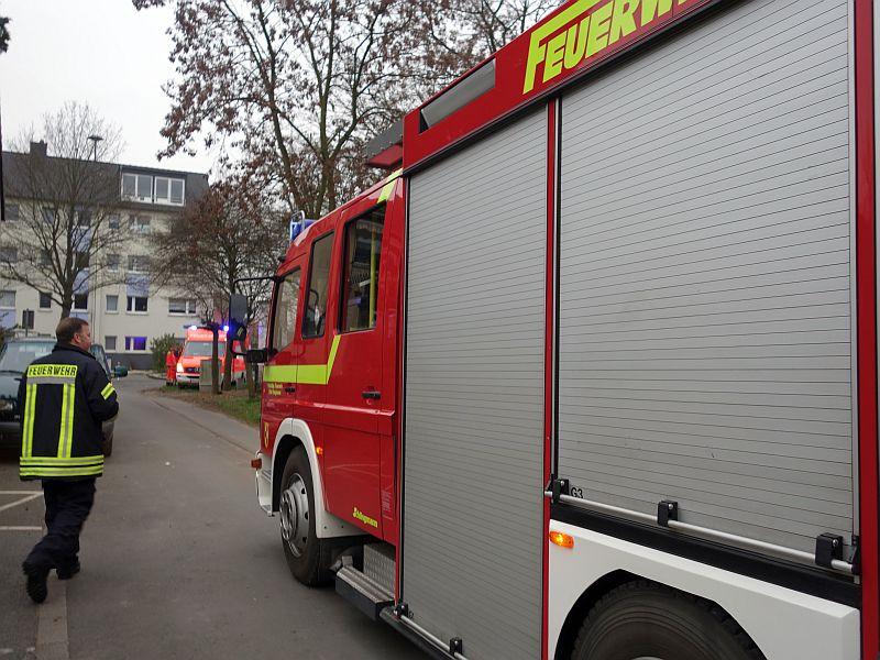Einsatz der Feuerwehr an der Wilhelm-Busch-Straße