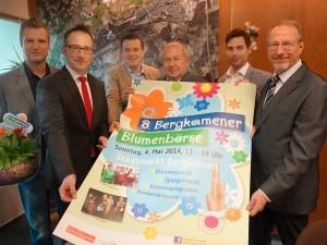 Die Organisatoren und Sponsoren (v.l.): Karsten Rockel, Mischael Krause (Sparkasse), Karsten Quabeck, Manfred Turk, Timm Jonas (GSW) und Bürgermeister Roland Schäfer