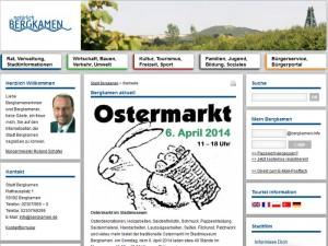 Die Homepage der Stadt Bergkamen ist in den Augen der Grünen nur Mittelmaß.