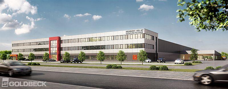 So soll das Gebäude der Herbert Heldt KG im Logistikpark A 2 aussehen.