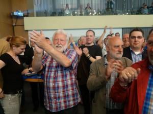 Für Roland Schäfer gab es von seinen Parteifreunden viel Applaus.