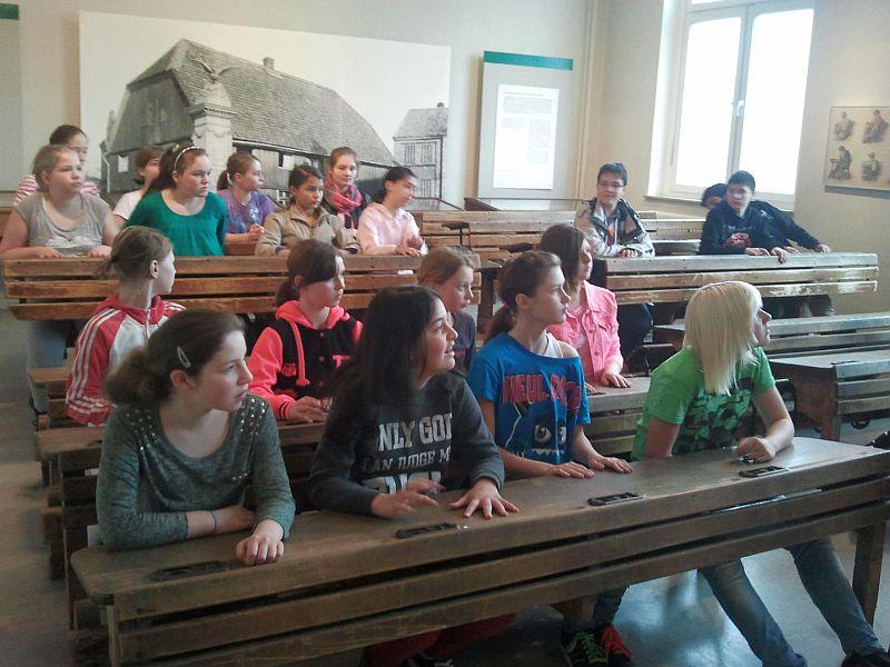 """""""Unterricht"""" im Schulmuseum Dortmund."""