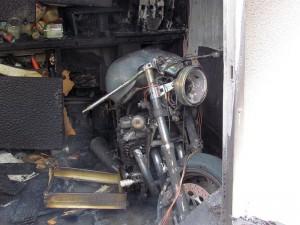 Schmerzlich dürfte der Verlust dieses Motorrades sein.