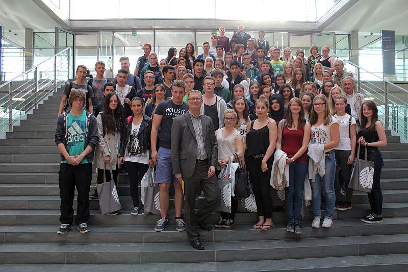 Bergkamener Gesamtschüler in Berlin