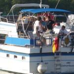 """""""Zaungäste"""" des Hafenfests auf dem Wasser."""