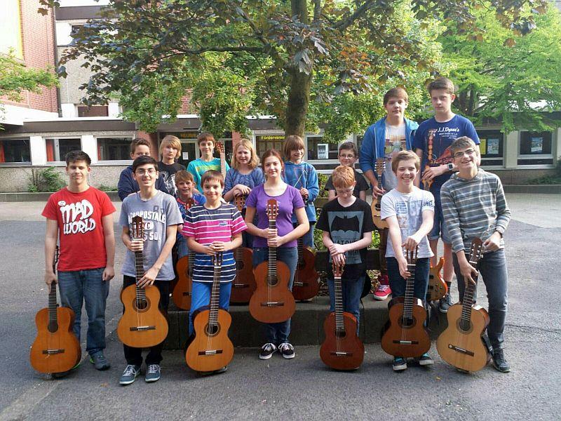 Das Jugendzupforchester der Bergkamener Musikschule.