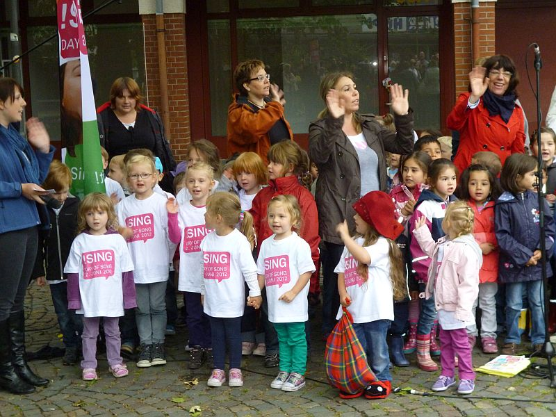Open Air Konzert der Kinder beim Day of Song 2012. Foto: Stadt Bergkamen