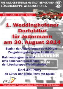 Plakat Weddinghofener Spaßwettkämpfe mit Werbung X4