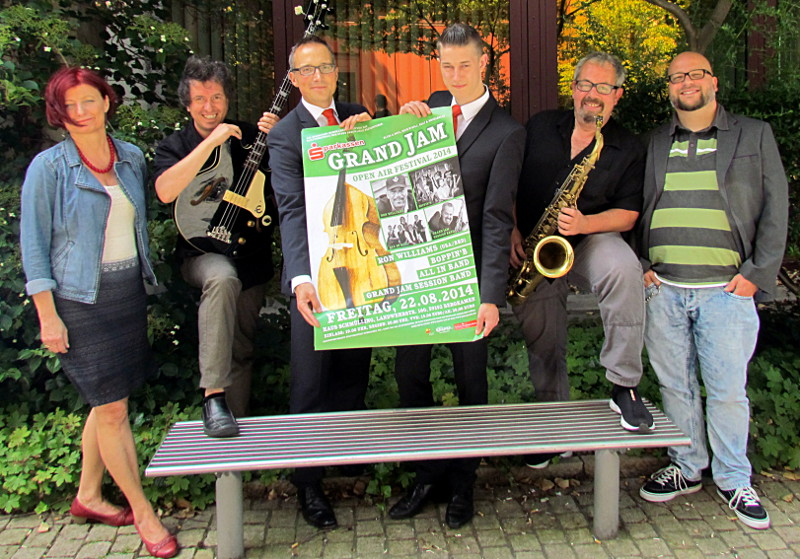 Das Organisationsteam hat  gut gearbeitet: Das Sparkassen Grand Jam Festival kann kommen.