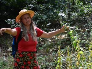 Gundula Kerekes entdeckte eine spannende Pflanze nach der anderen am Wegesrand.