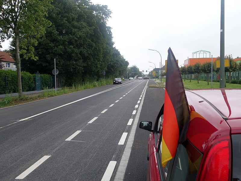 Freie Fahrt auf der Landwehrstraße.
