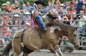 Auch auf dem Rücken der Pferde ging es hoch her.
