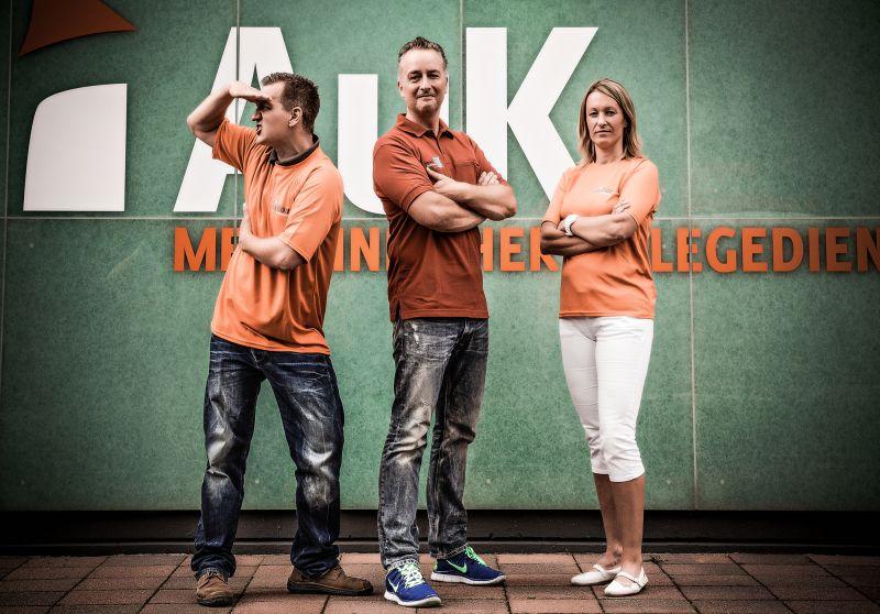Das Organisationsteam (v.l.), Simon Born (AuK), Frank Klesz (Sonnen-Apotheke), Claudia Dröge (AuK)- Foto: Chris Padilla/AuK