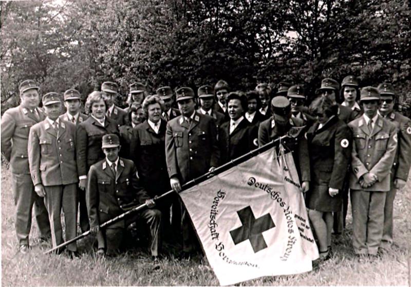 Die Fotos zeigen die Rotkreuzgemeinschaft im Jahr 1974, also zum 50-jährigen Jubiläum.